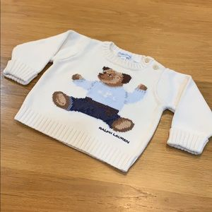 Polo Bear 🐻 Cotton Sweater Size 6-9 Months Baby